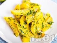 Вкусни и лесни варени картофи с песто от целина